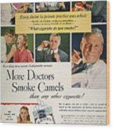 Camels Cigarette Ad, C1950 Wood Print