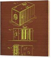 Camera Patent Drawing 1a Wood Print