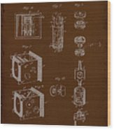 Camera Patent Drawing 2e Wood Print