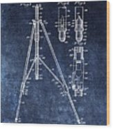Camera Tripod Patent Wood Print