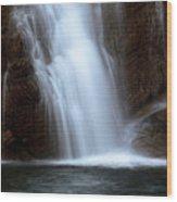 Cameron Falls In Waterton Lakes National Park Of Alberta Wood Print