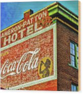 Cameron Patterson Hotel Wood Print