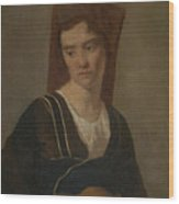 Camille Corot   A Peasant Woman Wood Print