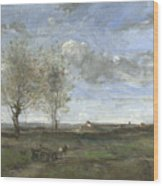 Camille Corot   A Wagon In The Plains Of Artois Wood Print