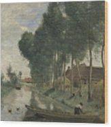 Camille Corot   Landscape At Arleux Du Nord Wood Print