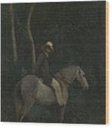 Camille Corot   Monsieur Pivot On Horseback Wood Print