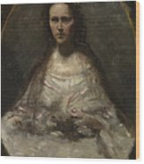 Camille Corot   Sketch Of A Woman In Bridal Dress Wood Print