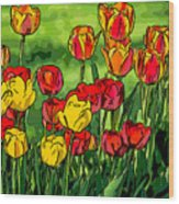 Camille's Tulips Wood Print