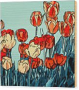 Camille's Tulips - Version 3 Wood Print