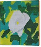 Camo Calla Lilly Wood Print