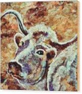 Camouflage Cow Art Wood Print