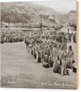 Camp San Luis Obispo Army Base 40th Division Photo 143rd Field Artillery 1941 Wood Print