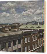 Campbell Avenue Rooftops Roanoke Virginia Wood Print