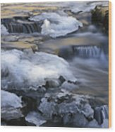 Campbell Waterfalls West Virginia Wood Print
