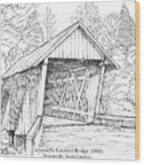 Campbell's Covered Bridge Wood Print