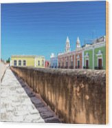Campeche Wall And City View Wood Print
