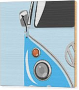 Camper Blue Wood Print by Michael Tompsett