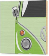 Camper Green Wood Print by Michael Tompsett