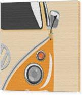 Camper Orange 2 Wood Print by Michael Tompsett