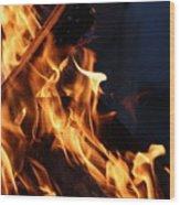Campfire 2 Wood Print