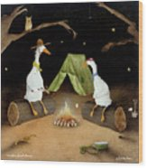 Campfire Ghost Stories Wood Print