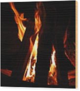 Campfire Wood Print by Kimberly Camacho
