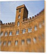Campo Of Siena Tuscany Italy Wood Print by Marilyn Hunt