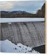 Campton Pond Dam  Wood Print