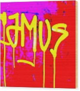 Camus ... Graffitied  Wood Print