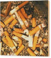Can Give Up Smoking Wood Print