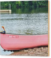 Can You Canoe Wood Print