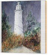 Cana Island Light House Wood Print