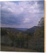 Canaan Valley Cloudy Sky Wood Print
