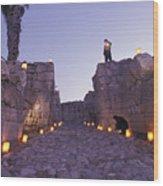 Canaanite Entrance Gate To El Megiddo Wood Print