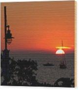 Canada 150th Birthday Sunset 4 Wood Print
