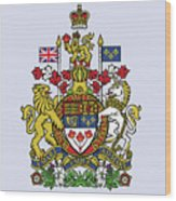 Canada Coat Of Arms Wood Print