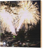 Canada Day 150 Lights 2 Wood Print