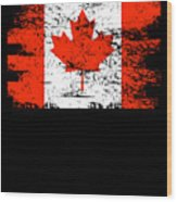Canada Flag Gift Country Patriotic Travel Shirt Americas Light Wood Print