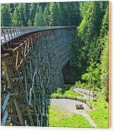 Canada National Historic Wooden Trestle- Kinsol Trestle Near Shawnigan Lake, Bc Canada. Wood Print
