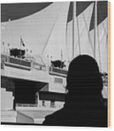 Canada Place Wings Silhouette Wood Print
