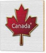 Canada Red Leaf Wood Print