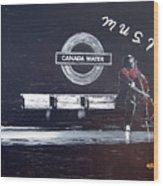 Canada Water Music Wood Print
