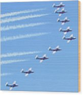 Canadian Air Force Snowbirds Wood Print