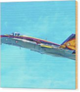 Canadian Armed Forces Cf-18 Hornet Wood Print