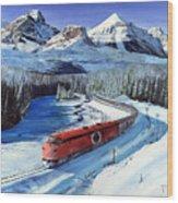 Canadian At Morant's Curve Wood Print