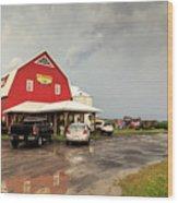 Canadian Farm After Storm Wood Print