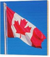 Canadian Flag Wood Print