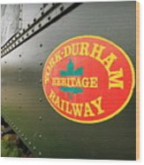 Canadian Heritage Train Wood Print
