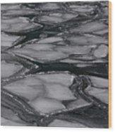 Canadian Ice Wood Print