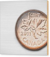 Canadian Penny Wood Print
